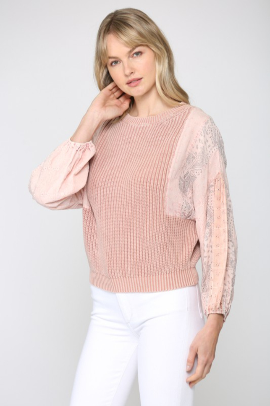 Fate  Mineral Washed Sweater - Front Full Image