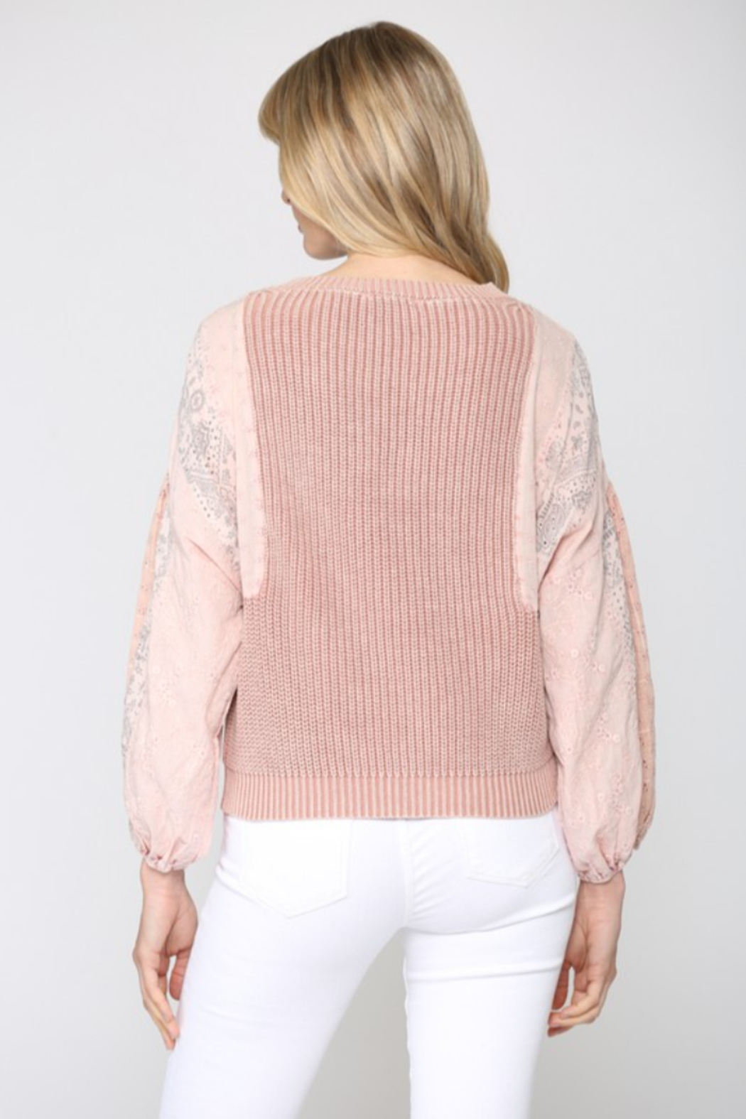 Fate  Mineral Washed Sweater - Side Cropped Image