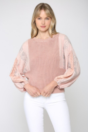 Fate  Mineral Washed Sweater - Product Mini Image