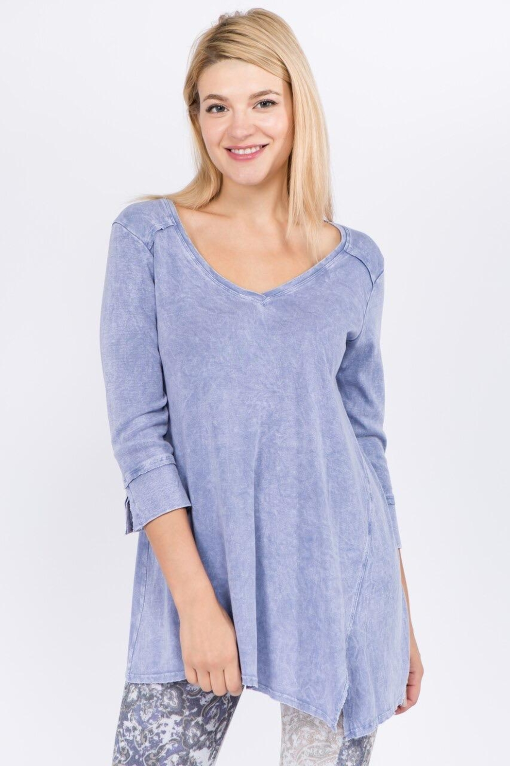 M. Rena  Mineral Washed Top - Front Cropped Image
