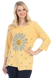 Jess & Jane Mineral Washed Tunic Top w/Rib Contrast - Product Mini Image