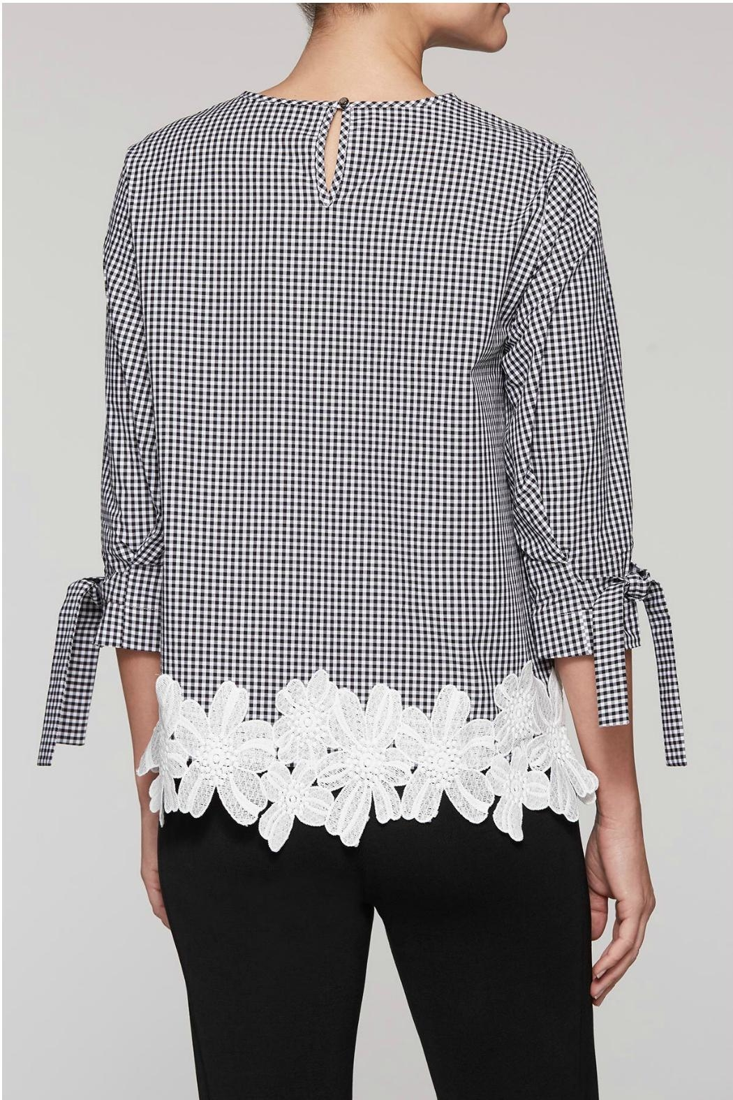 Ming Wang Gingham Check Blouse - Back Cropped Image