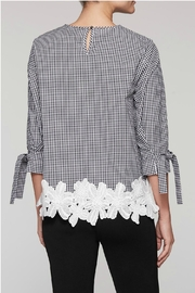 Ming Wang Gingham Check Blouse - Back cropped