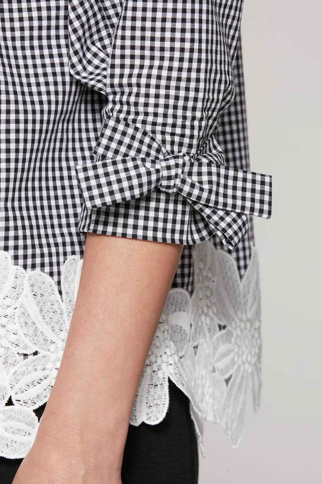 Ming Wang Gingham Check Blouse - Side Cropped Image