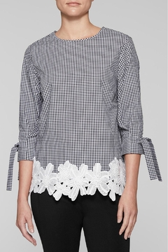 Ming Wang Gingham Check Blouse - Product List Image