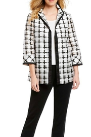 Ming Wang Plaid Tunic Blouse - Product Mini Image