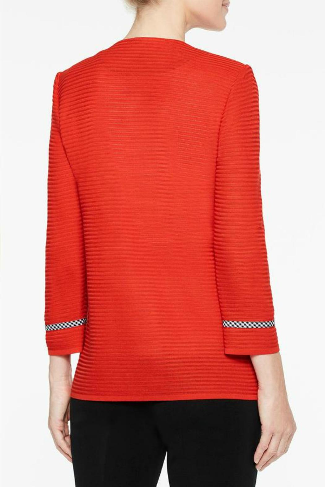 Ming Wang Poppy Red Jacket - Back Cropped Image
