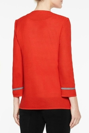 Ming Wang Poppy Red Jacket - Back cropped