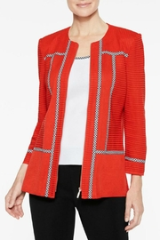 Ming Wang Poppy Red Jacket - Side cropped