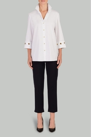 Ming Wang White/grommet Blouse - Product Mini Image