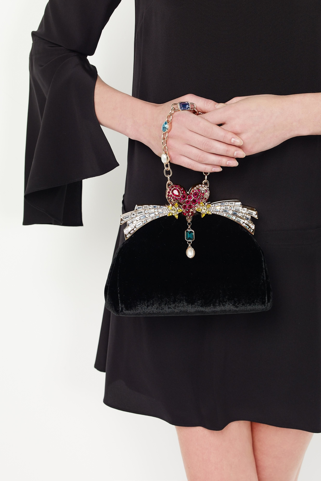 Ming Ray Mingray Black Clutch - Front Cropped Image
