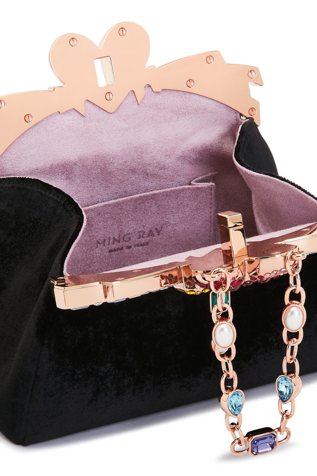 Ming Ray Mingray Black Clutch - Front Full Image