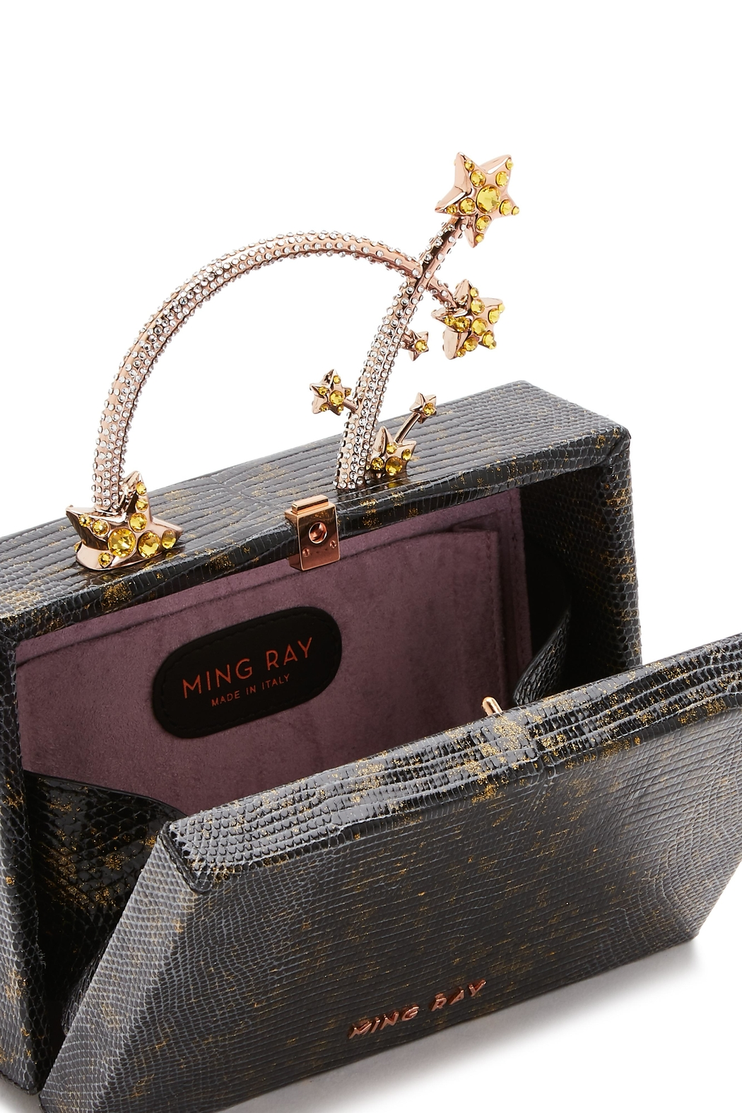 Ming Ray Mingray Lizard Clutch - Back Cropped Image