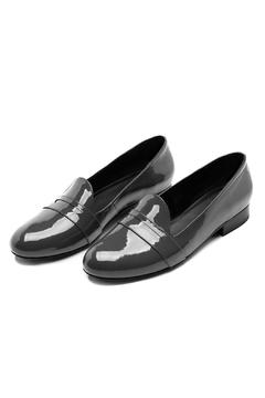 Shoptiques Product: Charcoal Leather Loafer
