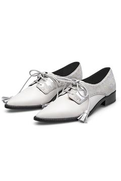 Shoptiques Product: White Leather Oxford