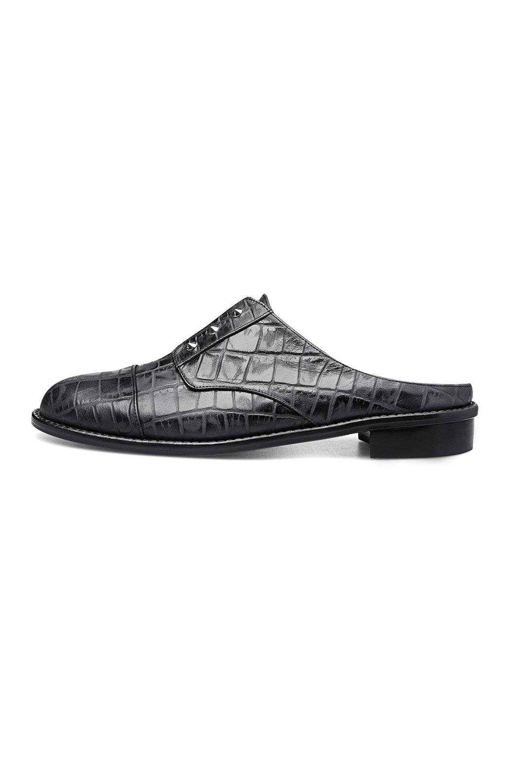 Minhk Naomi Croc Black Shoes - Front Full Image