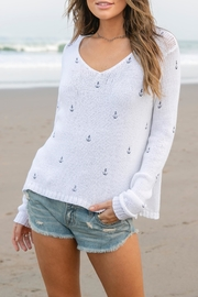 Wooden Ships Mini Anchors Sweater - Product Mini Image