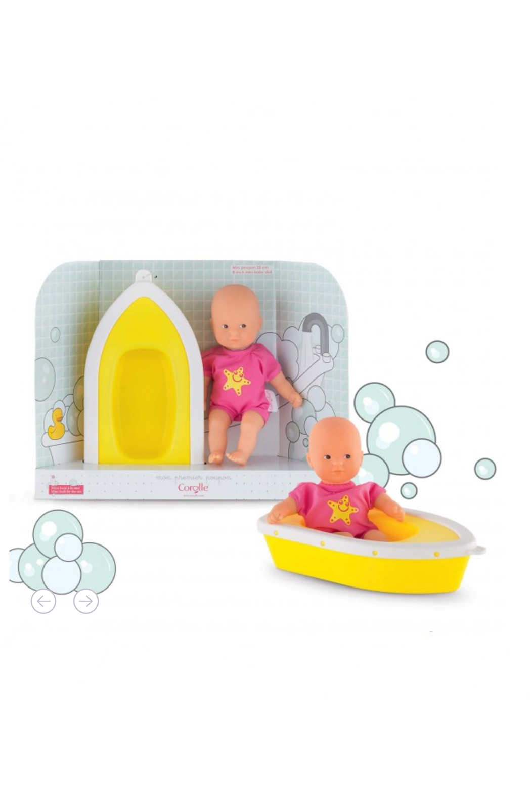 Corolle Mini Bath Plouf Doll Set - Main Image