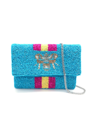 LA Chic Mini Beaded Bee Bag - Front cropped