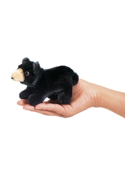 Folkmanis Mini Black Bear - Front cropped