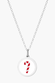Auburn Jewelry Mini Candy Cane Silver Pendant - Product Mini Image
