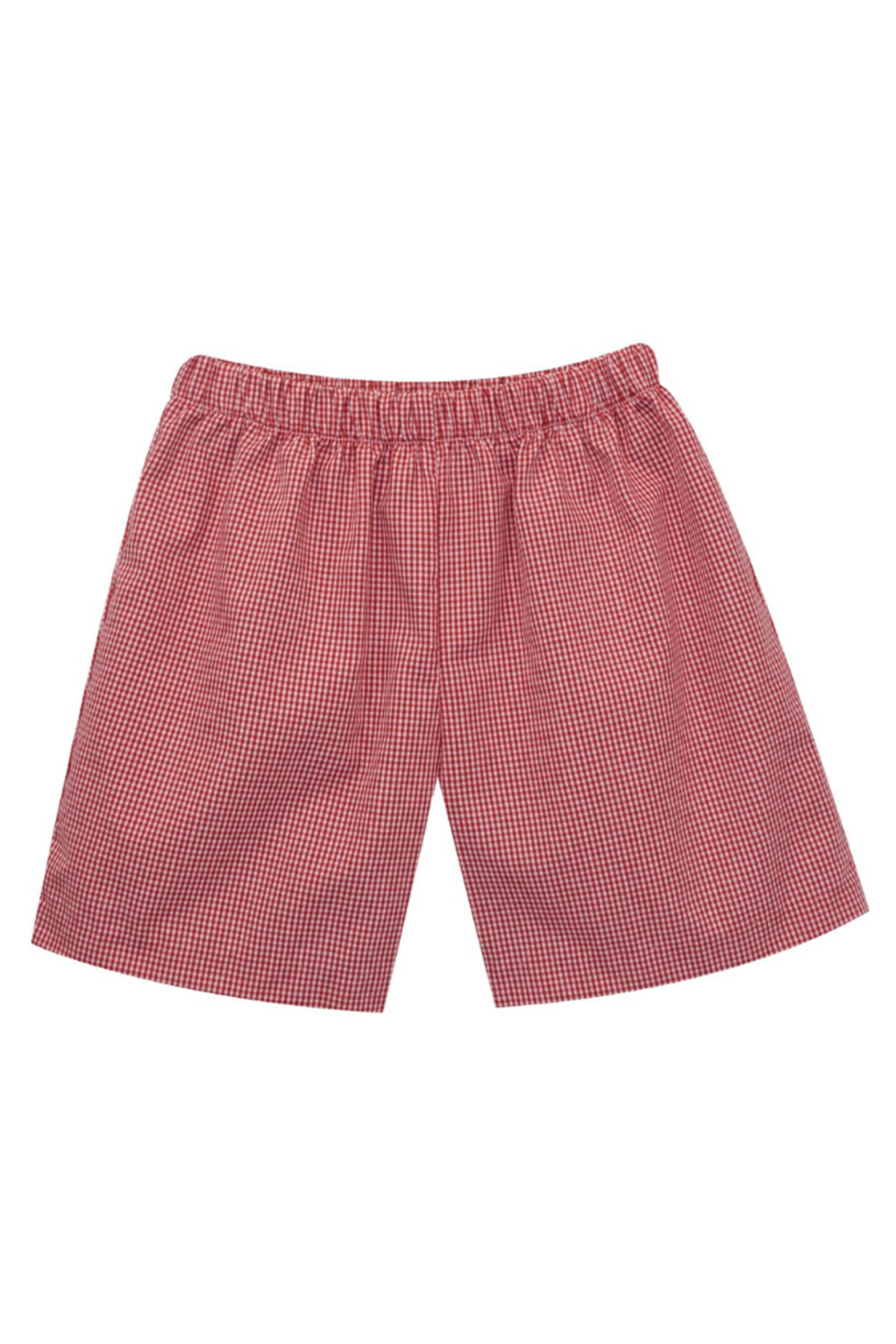 Vive La Fete  Mini Check Pull on Shorts - Front Cropped Image