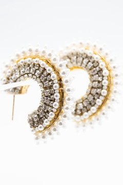 Mignonne Gavigan Mini Fiona Pearl Hoop Earrings - Alternate List Image