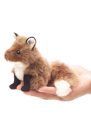 Folkmanis Mini Fox Finger Puppet - Front cropped