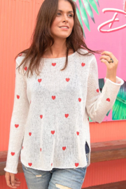 Wooden Ships Mini Heart Crew Sweater - Other