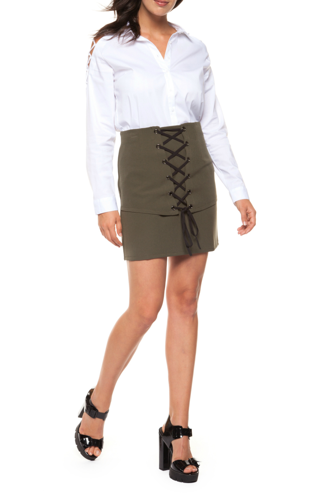94c468d0d1bd9 Black Tape Dex Mini Lace-Up Skirt from New Jersey by Charlotte s Web ...