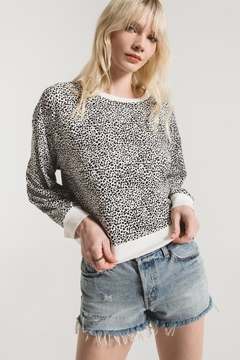 z supply Mini Leopard Long Sleeve Pullover - Product List Image