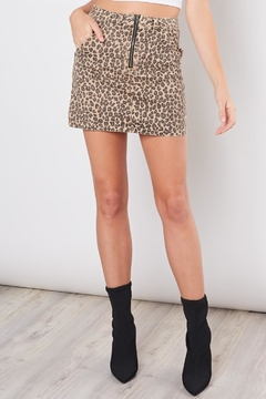Mustard Seed Mini Leopard Skirt - Alternate List Image