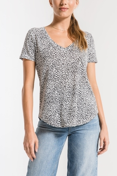 z supply Mini Leopard V-Neck tee - Product List Image