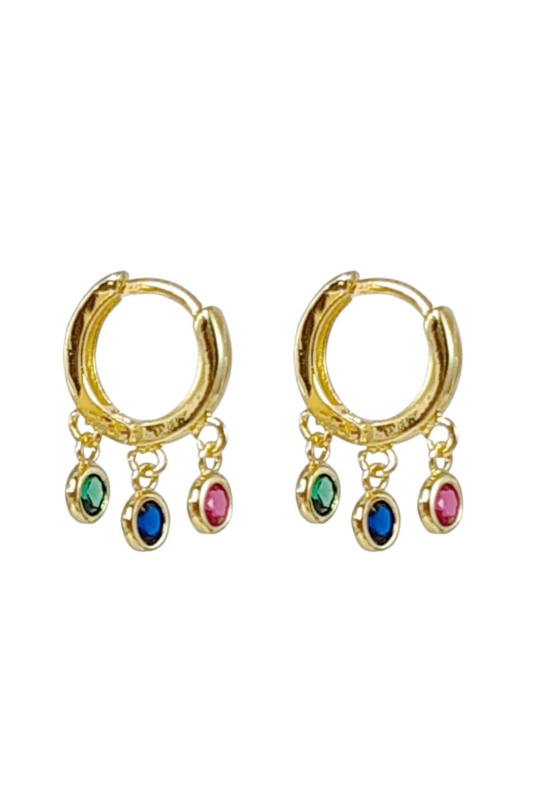Baggis Accesorios Mini Multycolor Hoop - Front Cropped Image