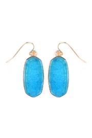 Riah Fashion Mini-Natural Stone Earrings - Product Mini Image