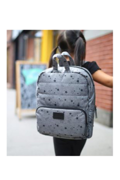 7AM Enfant MINI  Nylon HEATHER GREY STARS Backpack - Alternate List Image