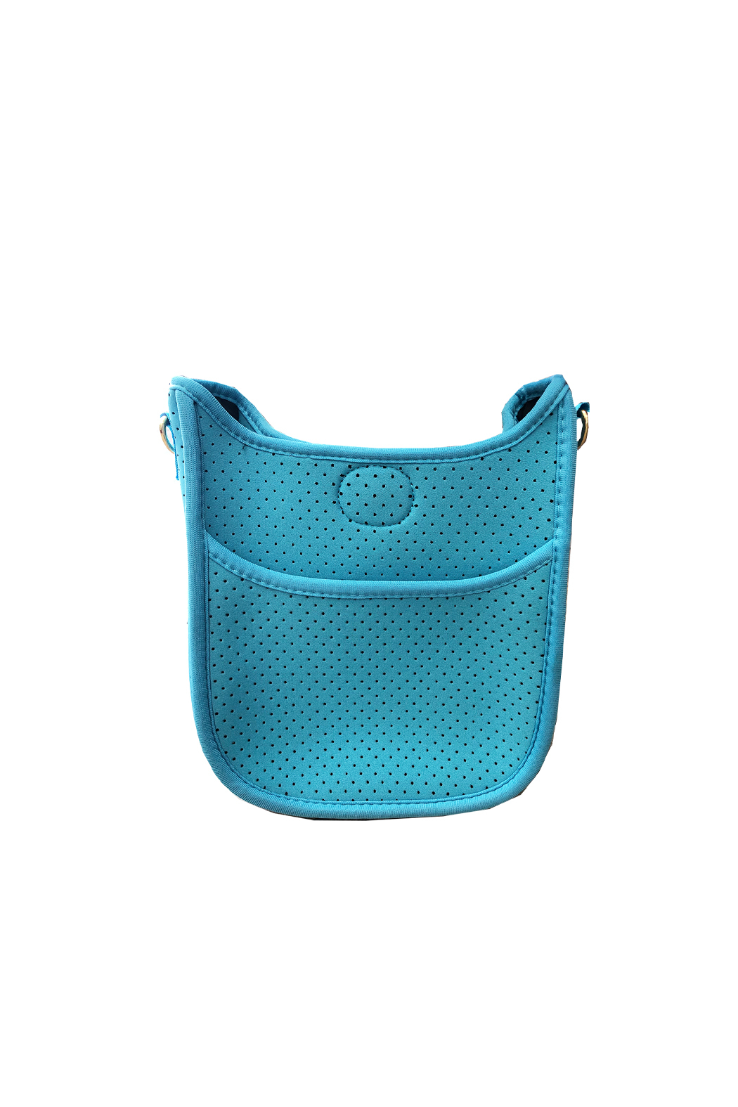 Ah!dorned Mini Perforated Messenger -  Strap not included - Front Full Image