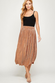 See and Be Seen Mini-Pleated Party Skirt - Product Mini Image