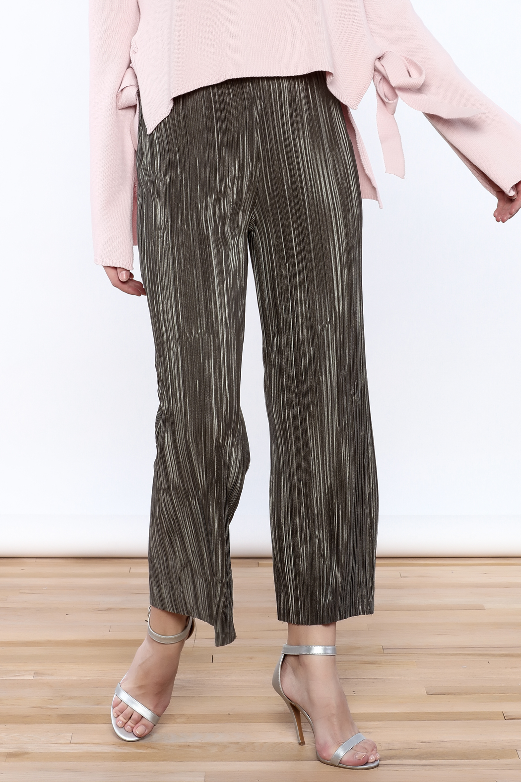 Pinkyotto Mini Pleats Fashion Pants - Front Cropped Image