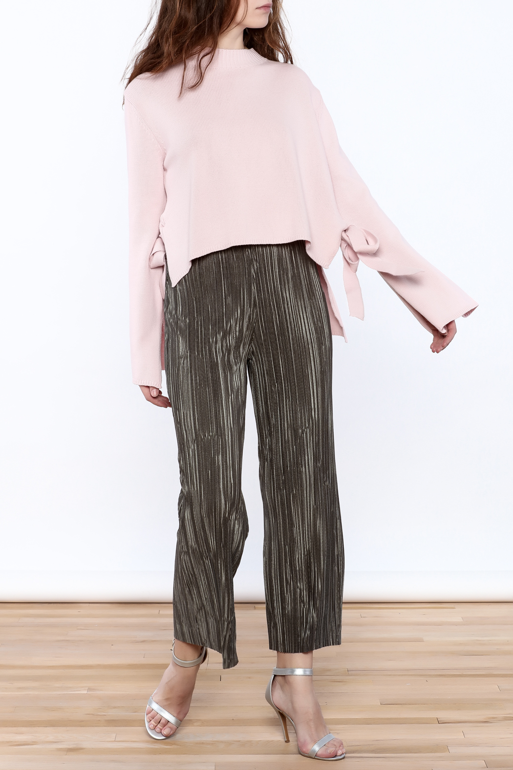 Pinkyotto Mini Pleats Fashion Pants - Front Full Image