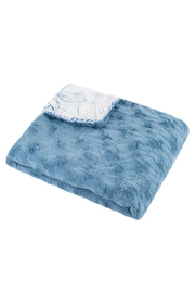 MINI POCKET Mini Pocket Collection Faux Fur Handmade in USA Infant Baby Blanket (Moonlight) - Front cropped