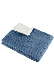 MINI POCKET Mini Pocket Collection Faux Fur Handmade in USA Infant Baby Blanket (OXBLUE) - Front cropped