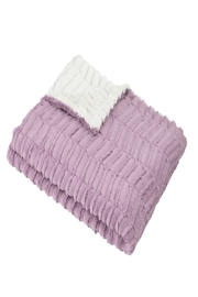 MINI POCKET Mini Pocket Collection Faux Fur Handmade in USA Infant Baby Blanket (OXMAUVE) - Front cropped