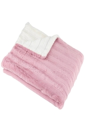 MINI POCKET Mini Pocket Collection Faux Fur Handmade in USA Infant Baby Blanket (Pink/Ivory) - Front cropped