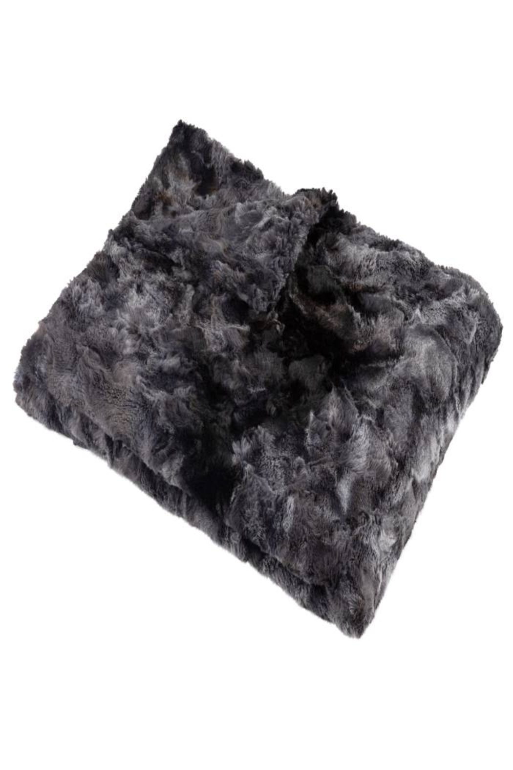 MINI POCKET Mini Pocket Collection Faux Fur Handmade in USA Infant Baby Blanket (Star Night) - Front Cropped Image