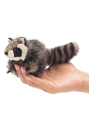 Folkmanis Mini Raccoon Finger Puppet - Front cropped