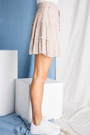 BaeVely Mini Skirt w/ Ruffle Detail - Side cropped