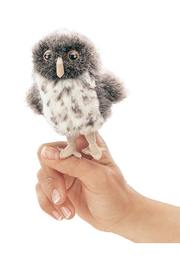 Folkmanis Mini Spotted Owl Finger Puppet - Product Mini Image