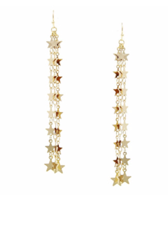 US Jewelry House Mini Star Triple Strand Drop Earrings - Alternate List Image