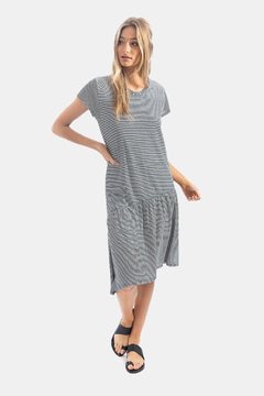 Shoptiques Product: Mini Stripe Slant Dress